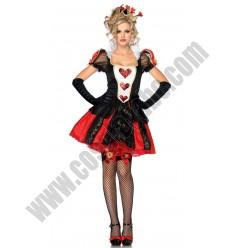 Short Red Queen Costume