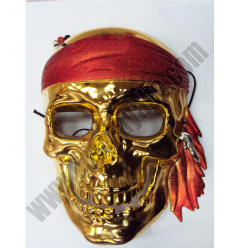 Gold & Silver Pirate Mask