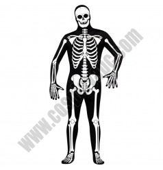 Halloween Black Skeleton Costume