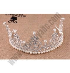 Princess Pearls Crown Hoop
