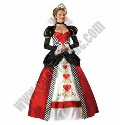 Elegant Queen Of Hearts Costume