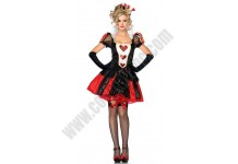 Short Red Queen Costume