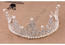 Princess Pearls Crown Hoop