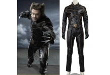 X-Men Wolverine Black Leather Costume