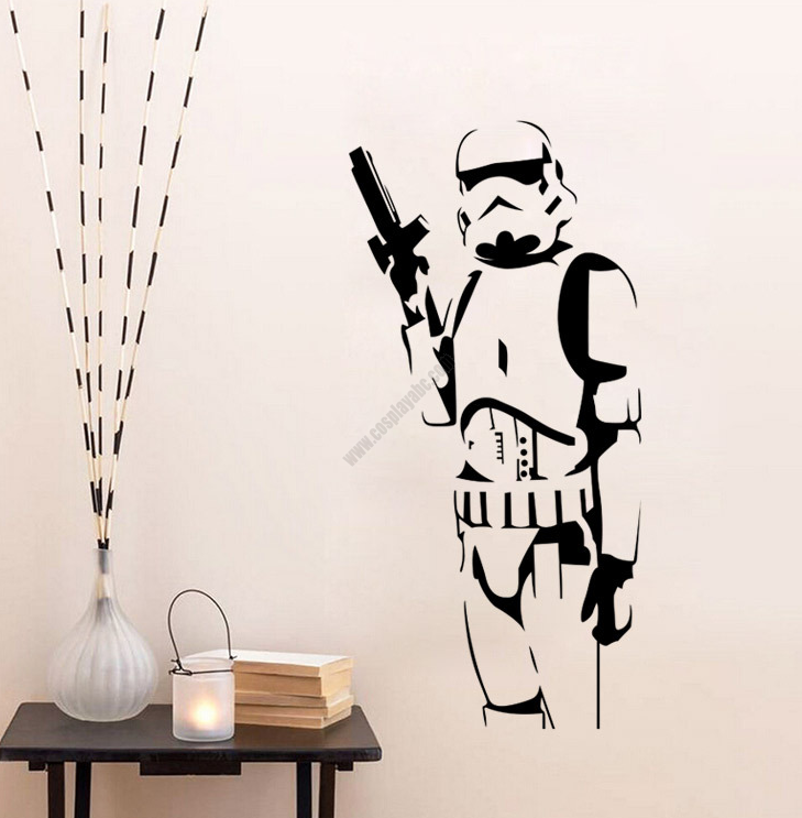 Low Cost Pvc Star Wars Imperial Stormtrooper Wall Stickers 3d Effect
