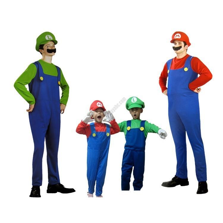 adult child mario luigi costume