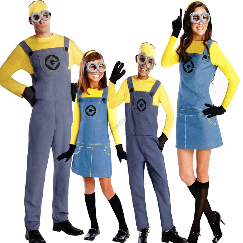 Despicable Me- Adult Child Minions Costume  sc 1 st  Halloween Party Cosplay Costumes Cosplayabc & Buying Cheap Minions Cosplay Bodysuit Best Online Halloween Costume ...